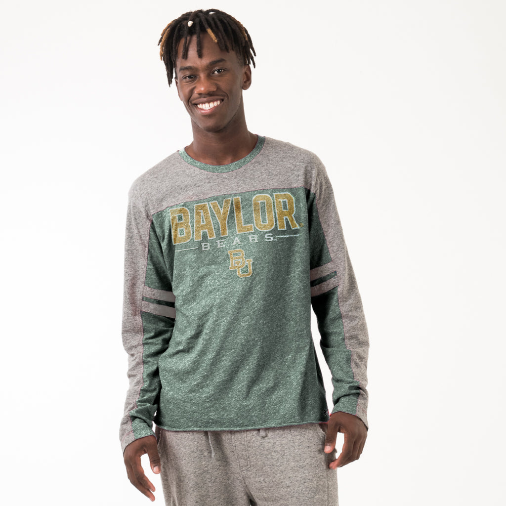 Baylor Mens Everyday Long Sleeve Tee Hunter Green
