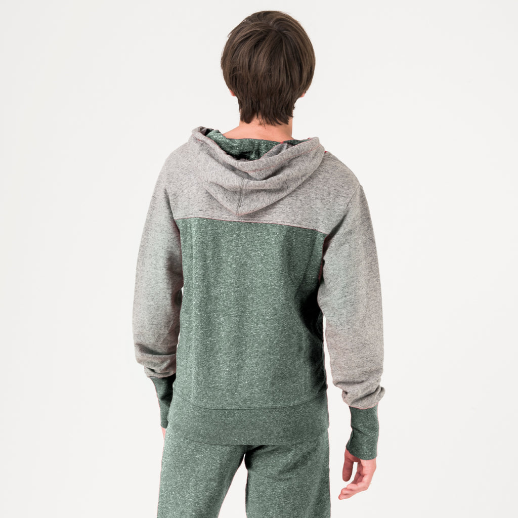 Baylor Mens Early Riser Hoodie Hunter Green