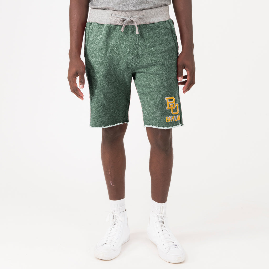 Baylor Mens Essentially Raw Shorts Hunter Green