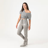 MIT Unisex Sweatpants With Feet Grey