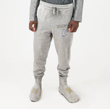 Navy Unisex Sweatpants With Feet Grey