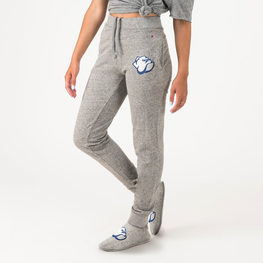 Yale Unisex Sweatpants With Feet Grey - American Collegiate