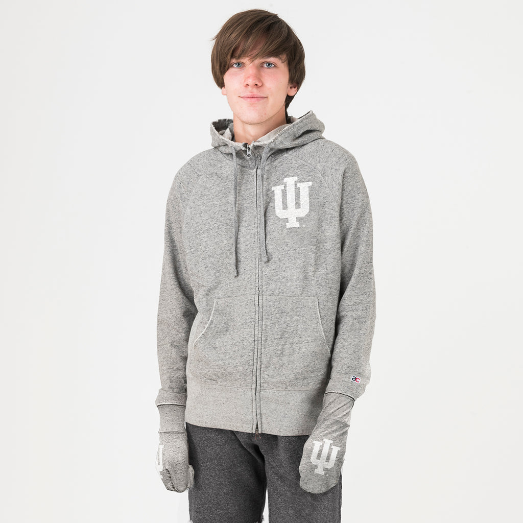 Indiana Unisex Hoodie With Hands Grey