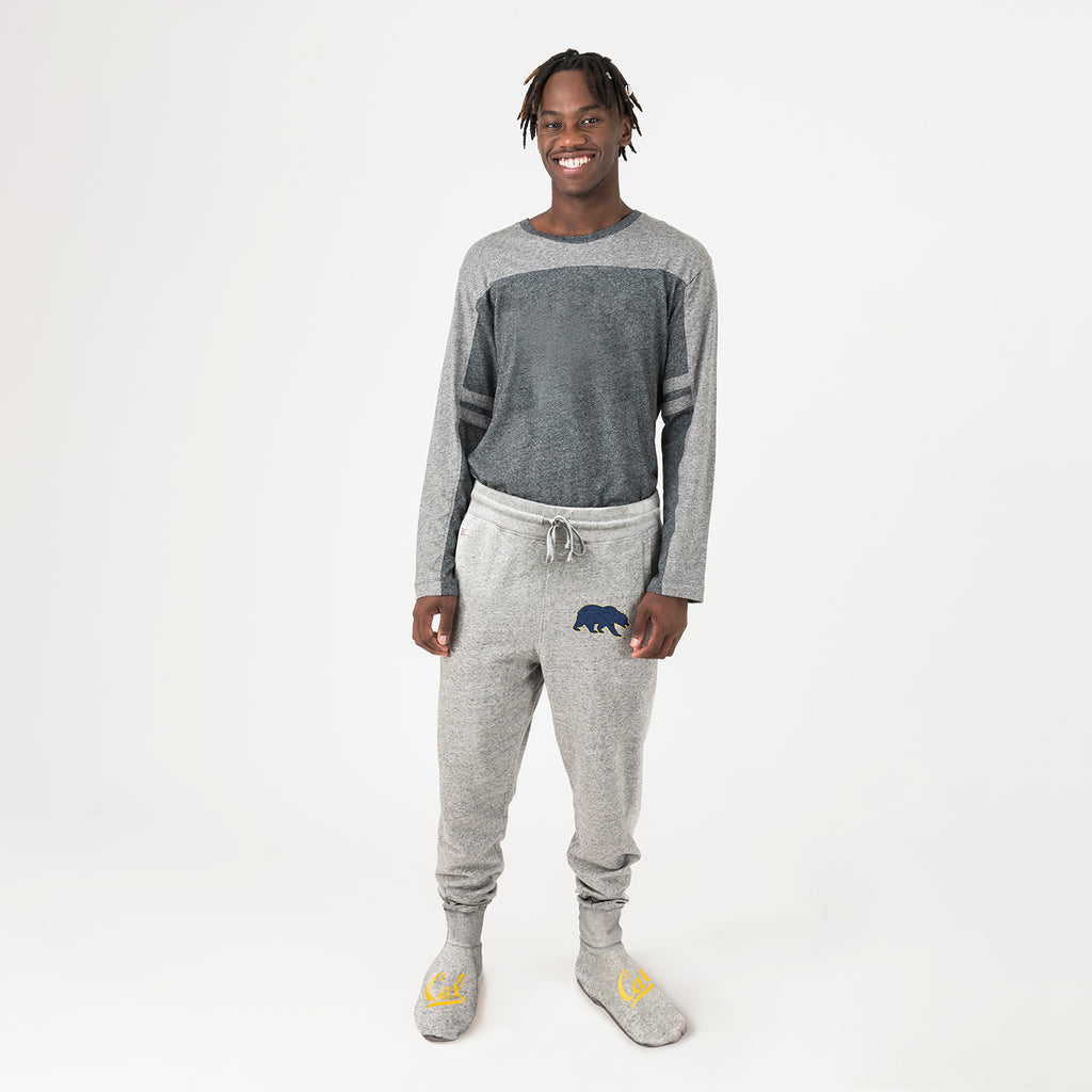 UC Berkeley Unisex Sweatpants With Feet Grey - American Collegiate