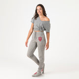 Indiana Unisex Sweatpants With Feet Grey