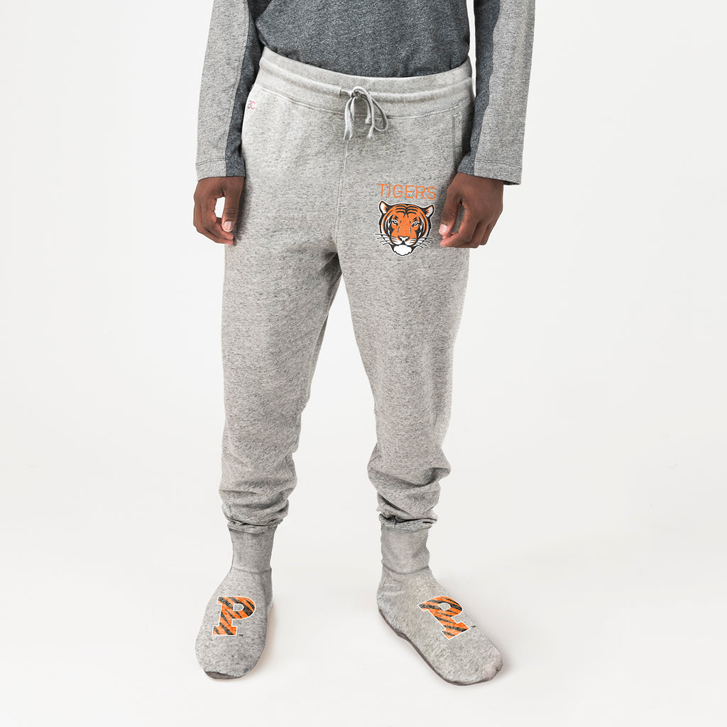 Princeton Unisex Sweatpants With Feet Grey