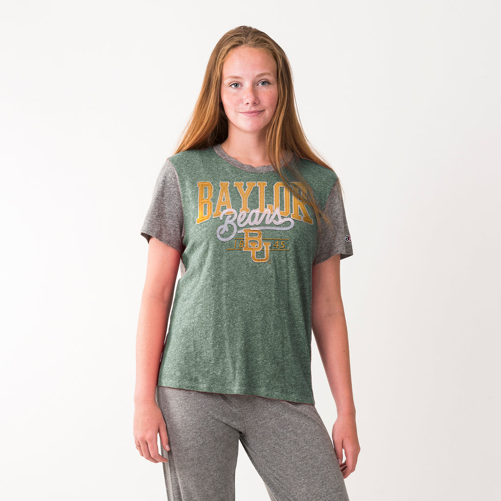 Baylor Womens Everyday Crew Neck Tee Hunter Green