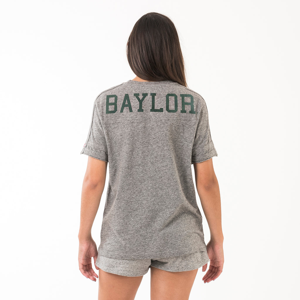 Baylor Womens Football Crew Neck Tee Grey