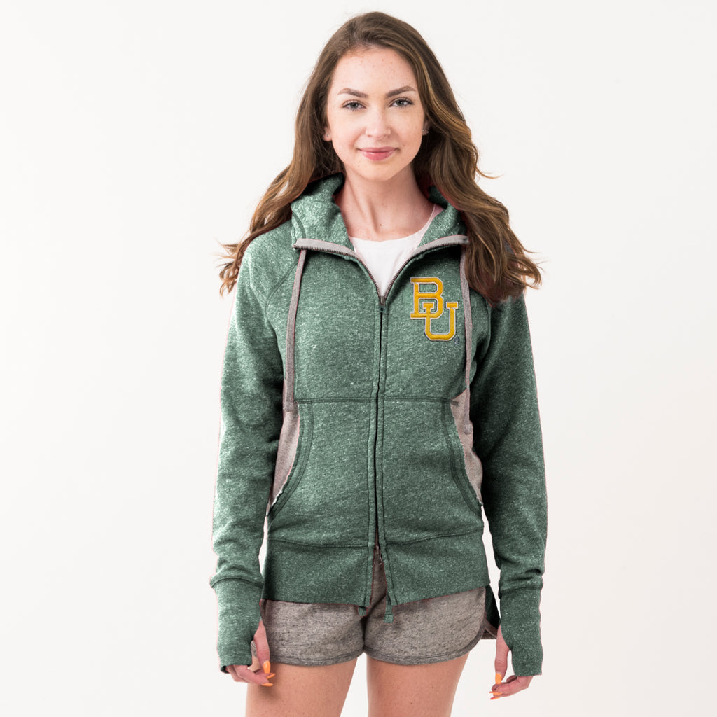 Baylor Womens Girlfriend Hoodie Hunter Green