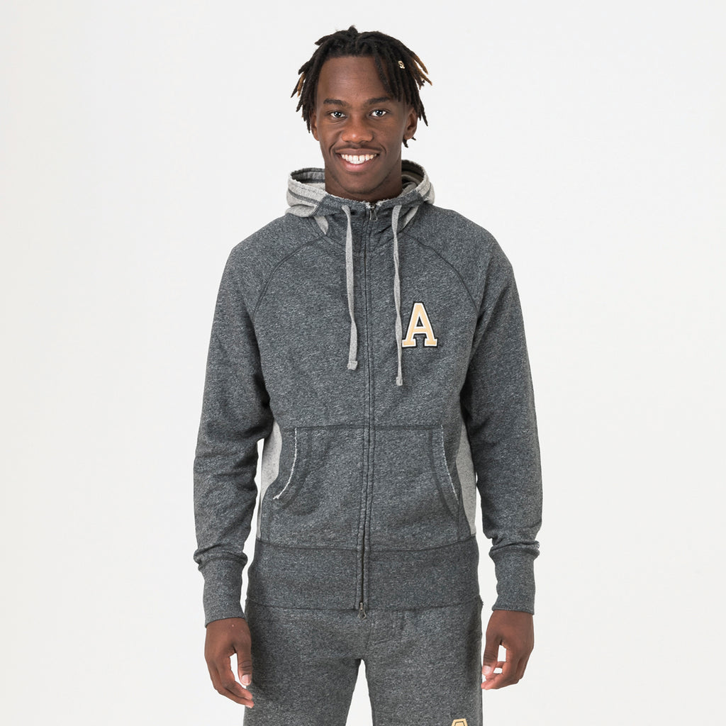 Army Zip Hoodie True Black
