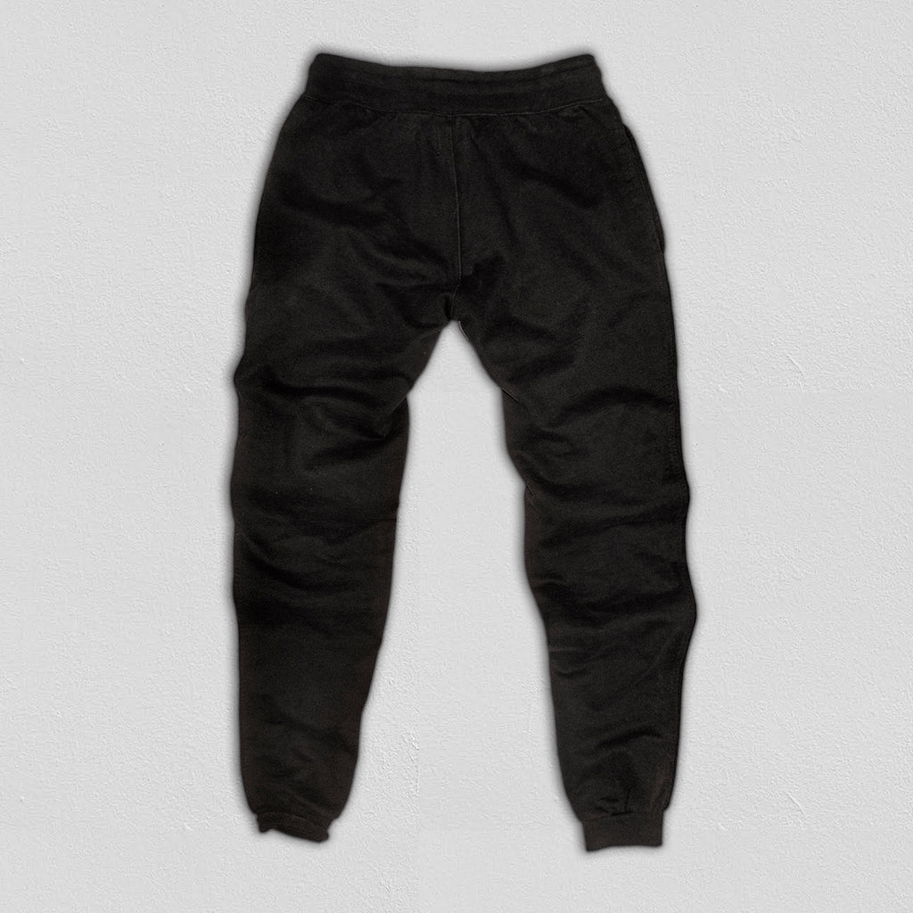Heavyweight Sweatpants True Black - American Collegiate