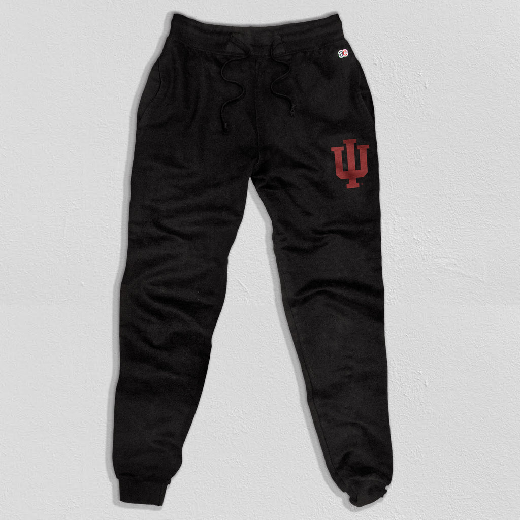 Indiana Heavyweight Sweatpants True Black  - American Collegiate