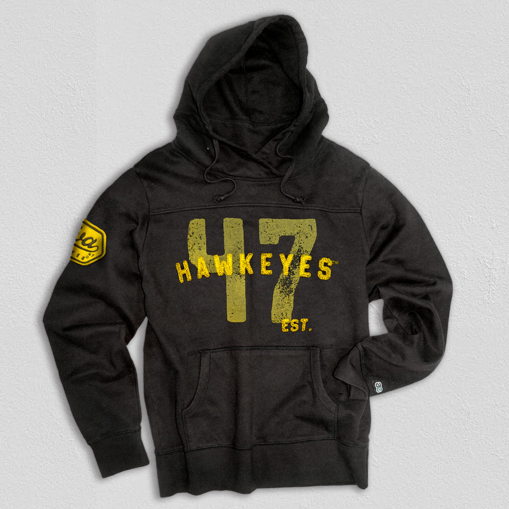 Iowa Men's Heavyweight Hoodie True Black