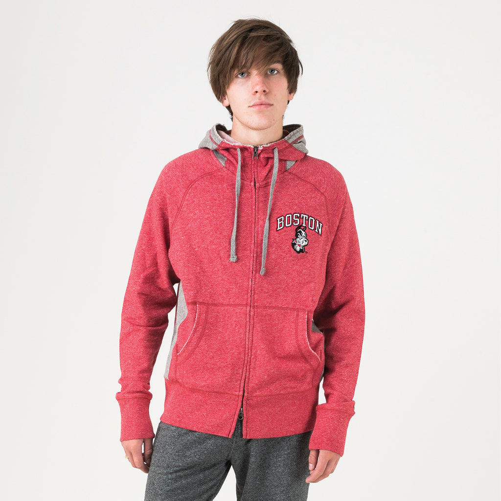 Boston Zip Hoodie True Red