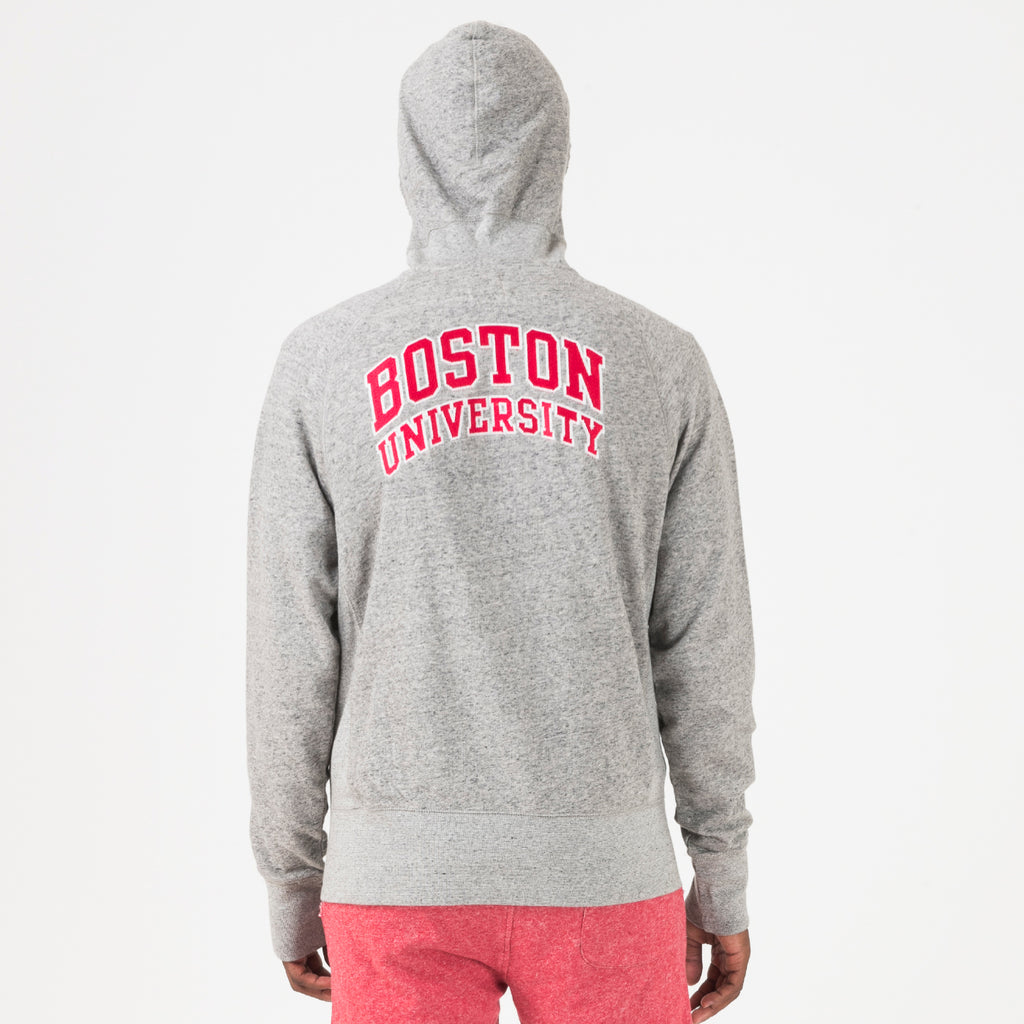 Boston Zip Hoodie Grey