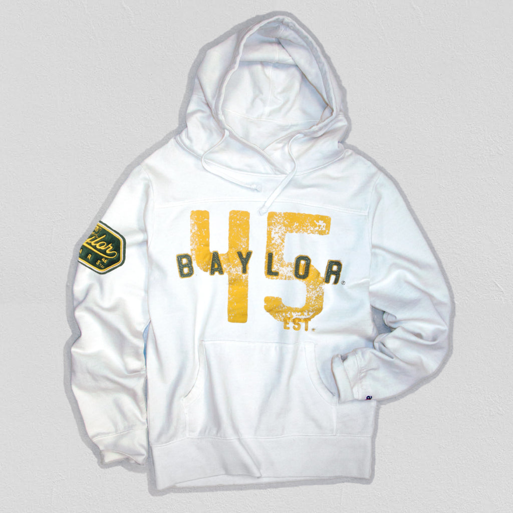 Baylor Men's Heavyweight Hoodie White