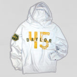 Baylor Men's Heavyweight Hoodie White - American Collegiate