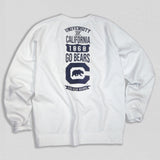 UC Berkeley Heavyweight Crewneck Sweatshirt White