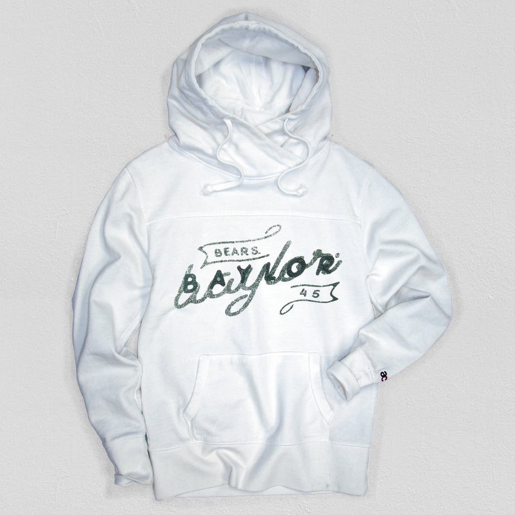 Baylor Women's Heavyweight Hoodie White - American Collegiate