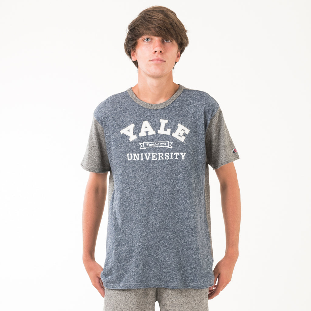 Yale Mens Football Crew Neck Tee