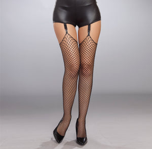 Fishnet Raw Top Stockings
