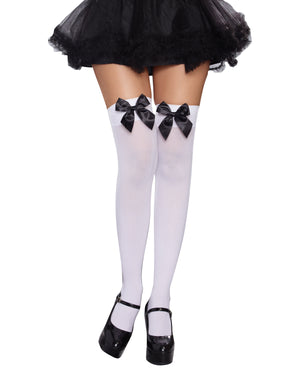 Versatile Bow Top Stockings