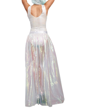 Iridescent Sparkly Maxi Skirt