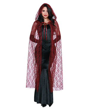 Lace Cape with Hood