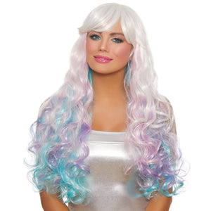 Long Wavy Layered Rainbow Wig