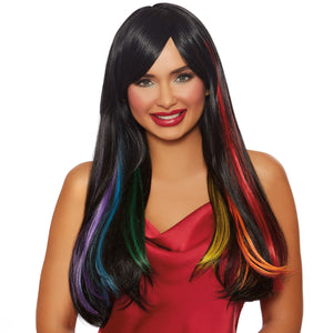 "Long Straight ""Hidden Rainbow"" Wig"