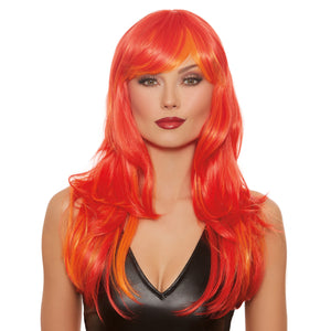 Long Straight Layered Flame Wig