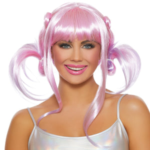 Anime Ombré Wig with Pigtails