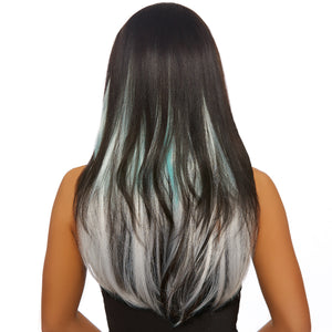Long Straight Ombré Three-Piece Hair Extensions