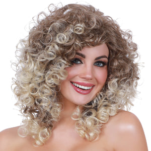 Long Curly with Dark Roots Wig