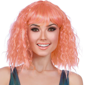 Beach Wave Mid Length Bob Wig