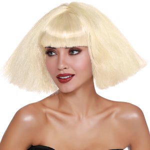 Crimped Wedge Bob Wig