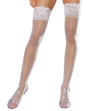 Plus Size Laced Stay-up Sheer Thigh High