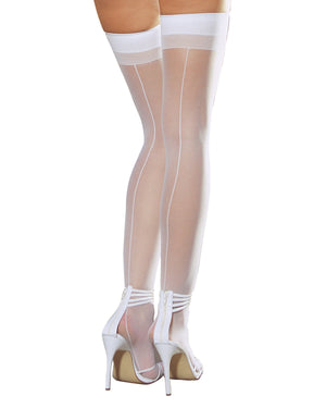 Sheer Thigh Highs with Back Seam