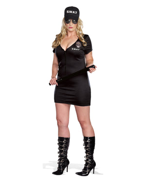 Plus Size SWAT Police - Black