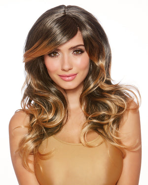 Faux Ombré Long Layered Wig Wig Dreamgirl Costume Adjustable Brown / Honey Blonde