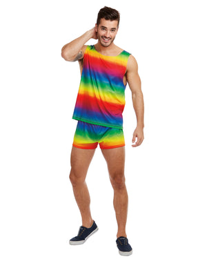 Men's Rainbow Men's Costume Dreamgirl Costume