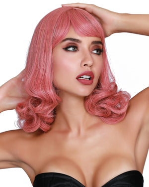 Mid-Length Curly Wig Wig Dreamgirl Costume