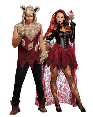 Plus Size Big Bad Red Women's Costume Dreamgirl Costume
