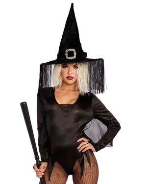 Wicked Witch Hat Headpiece Dreamgirl Costume
