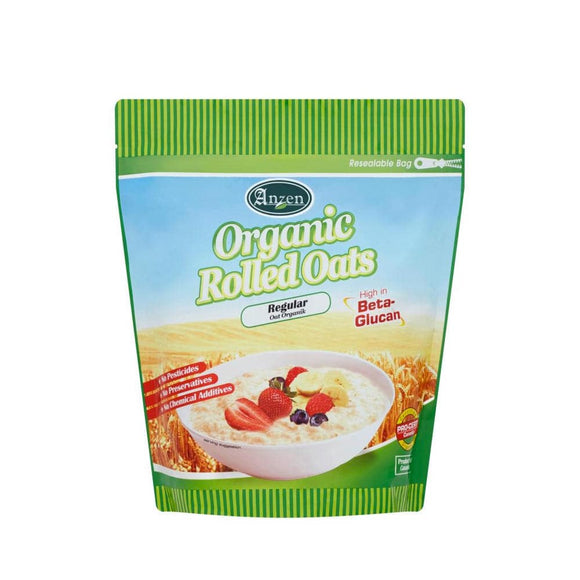 Anzen Organic Rolled Oats 1Kg - Regular