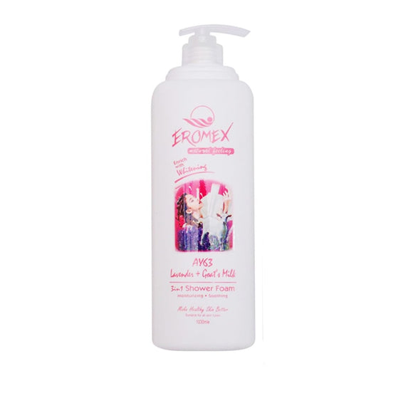 Eromex Goat's Milk 3 In 1 Shower Foam 2.2L - Lavender (AY63)
