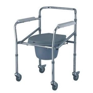 MO696 | Mobile Commode 8.5Kg - Capacity 100Kg Foldable & Adjustable Height