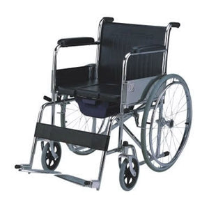 MO608 | Steel Commode Wheelchair 20Kg - Capacity 100Kg