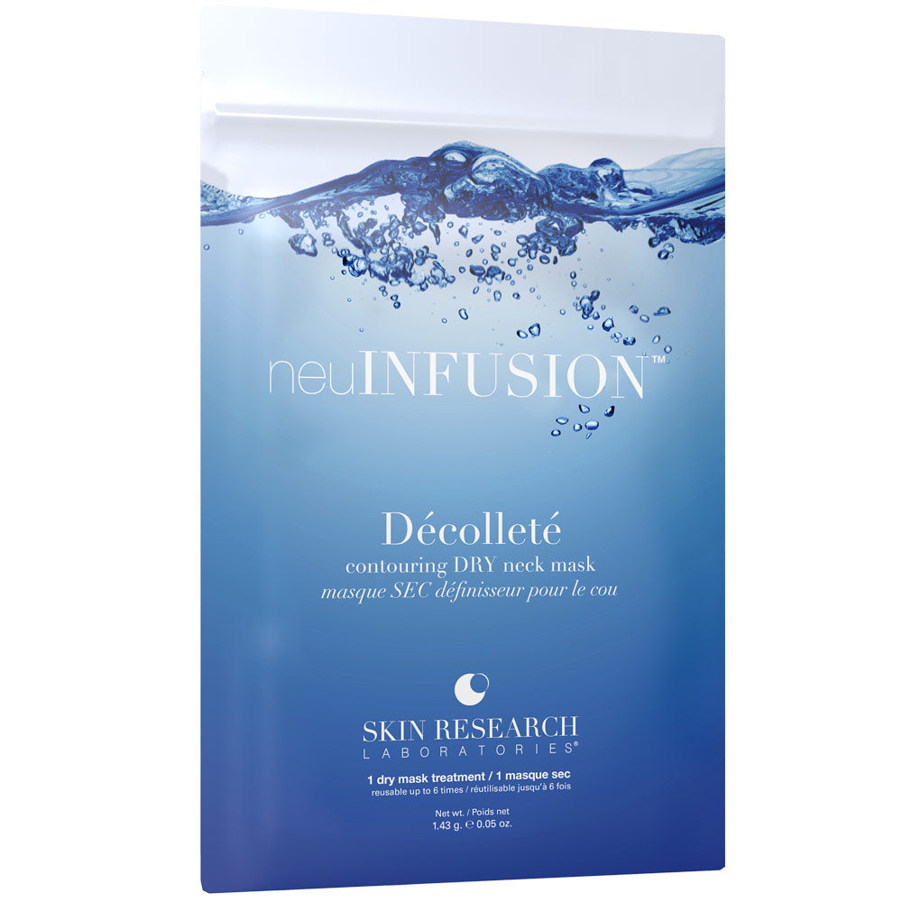 packet of neuInfusion dry neck mask