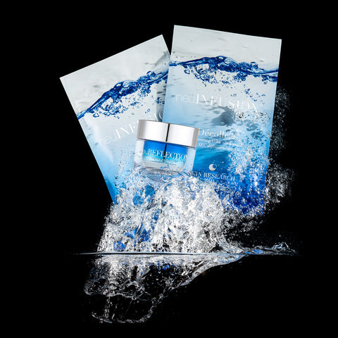 neuINFUSION™ dry masks for the neck and face and neuREFLECTION™ splashing into water.